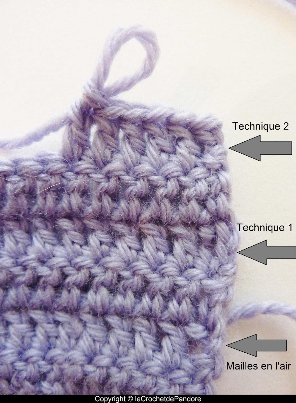 Le crochet de pandore tuto remplacer les mailles en l 39 air pour tourner en d but de rang la - Crochet maille en l air ...