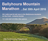 Ballyhoura Trail Marathon with half & ultra options...Sat 30th Apr 2016