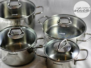Korkmaz Perla 8 Piece Cookware Set valued at $160 - International Giveaway