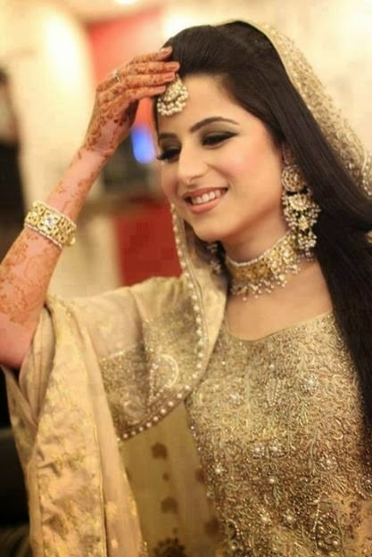 Beautiful Pakistani Bride In Pleasent Mood Smiley Face