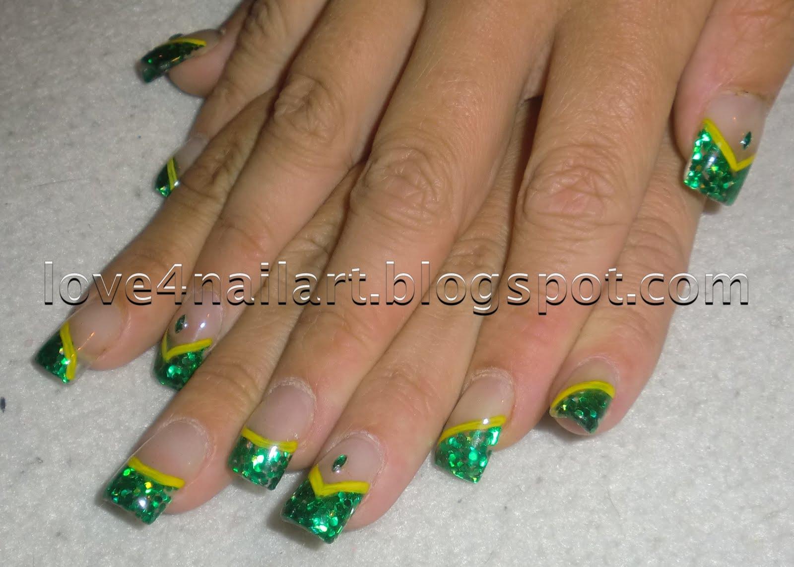 Love4nailart Green Bay Packers Nail Design