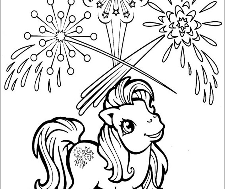 Cafofodamoda Fireworks And Pony Coloring Pages
