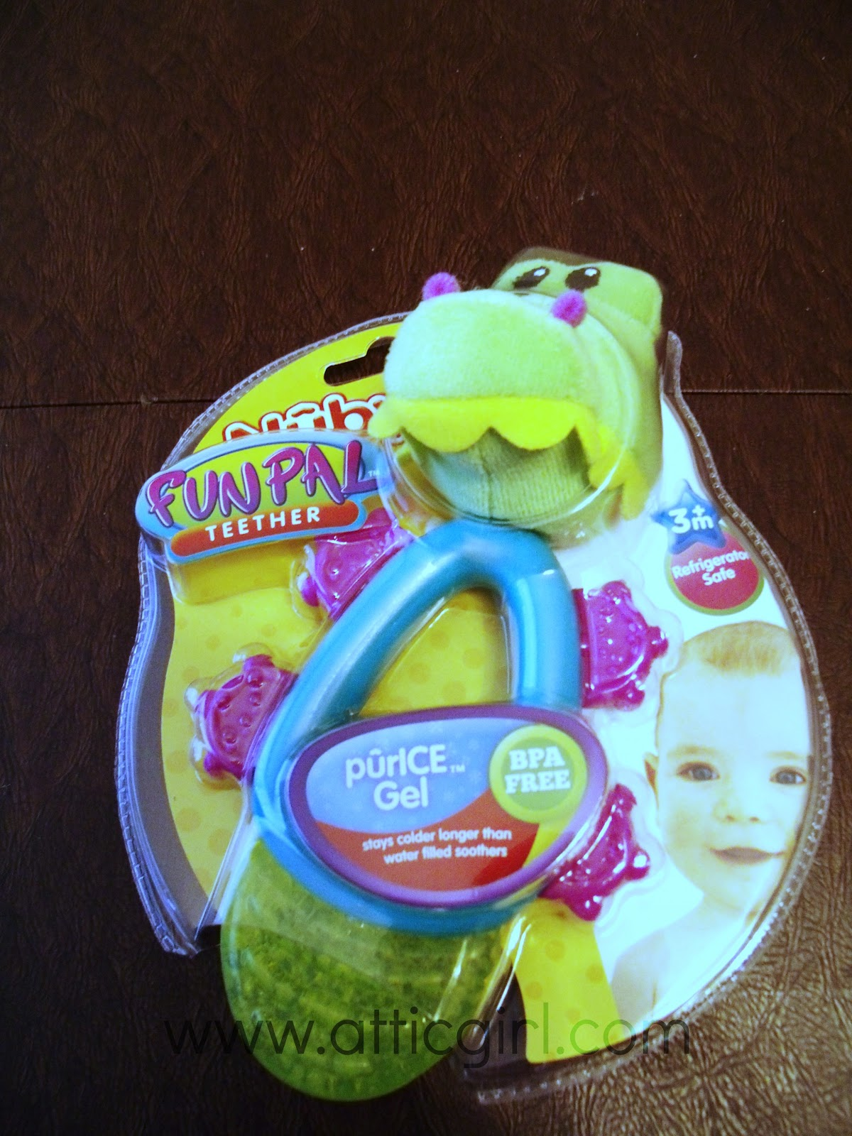 Nuby, teether, purice gel