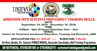 UNN Proficiency Training Skills 2018 | Check Details