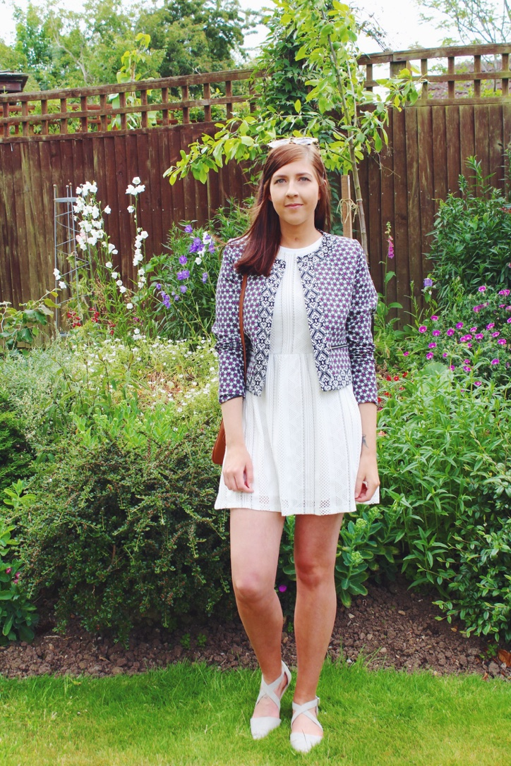 asos, asseenonme, fbloggers, fblogger, wiw, whatimwearing, primark, topshop, fashion, fashionbloggers, fashionblogger, whitedress, patternedjacket, ootd, outfitoftheday, lotd, lookoftheday