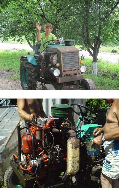 Видео самодельный трактор из урала