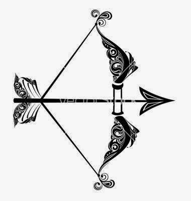 Diseño Tatuaje tribal signo Sagitario 01
