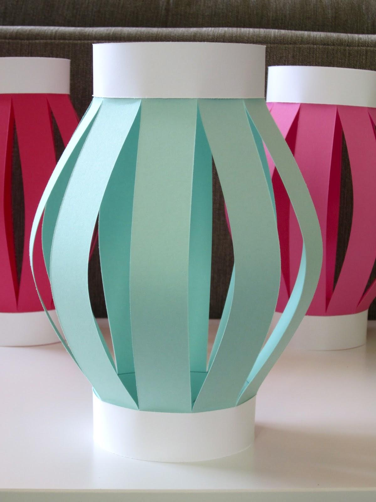 Homemade Luau Party Paper Tiki Lantern Design Sprinkle