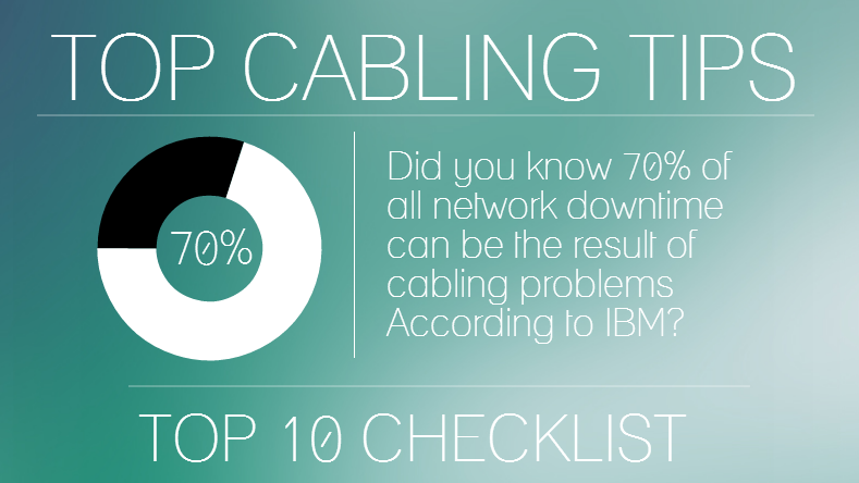 Top 10 Considerations for Structured Cabling for an IT Systems Integrator, Electrical Contractor or Facilities Manager