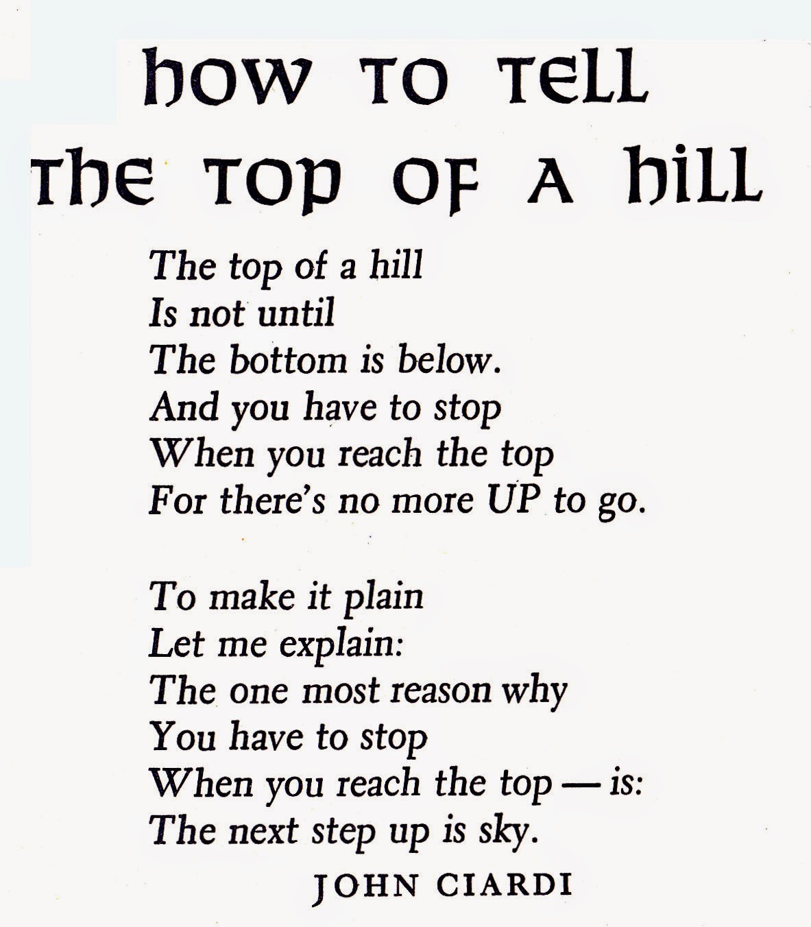 John Ciardi poem