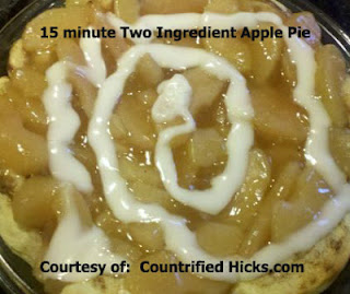 Easy apple pie recipe, two ingredient recipes, how to make an apple pie, fast recipes,
