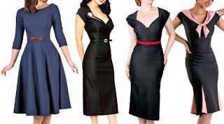 Vestidos Vintage da Moda Retro
