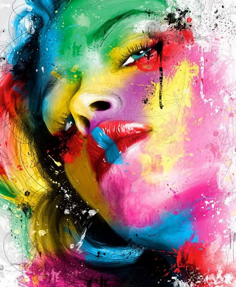 expresivos-dibujos-de-rostros-de-mujeres-a-color