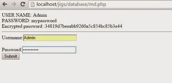 How to  encrypt a password in php using md5