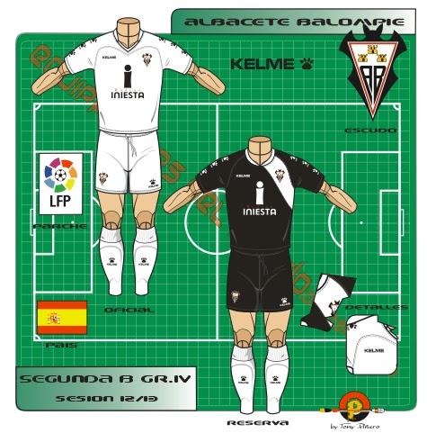 equipaciones del mundo: Segunda División B Grupo IV