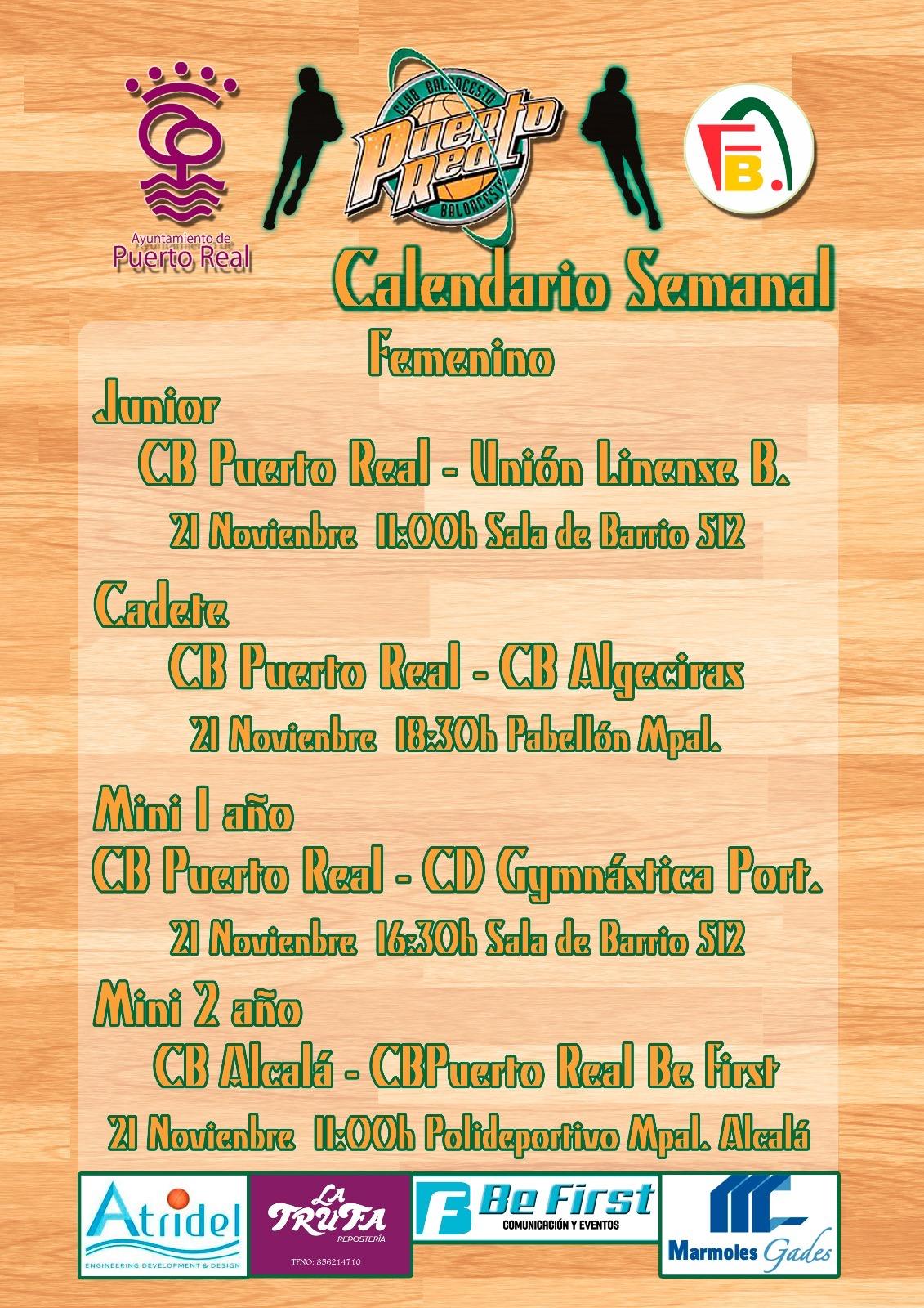 Club baloncesto puerto real horarios de partidos 21 22 for Horario correos puerto real