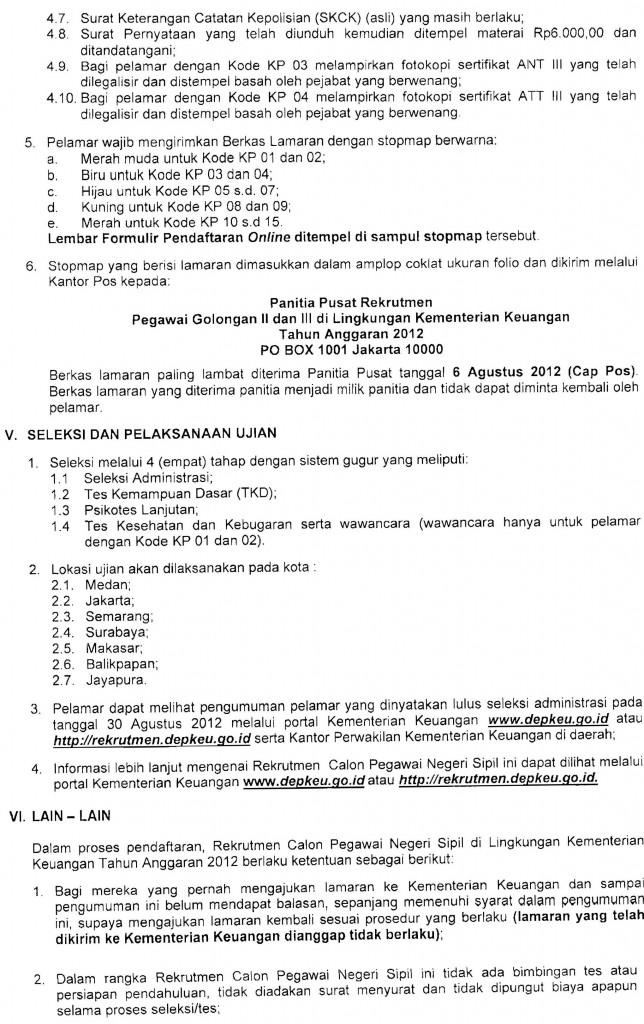 CPNS Kementerian Keuangan (KEMENKEU) RI 2012