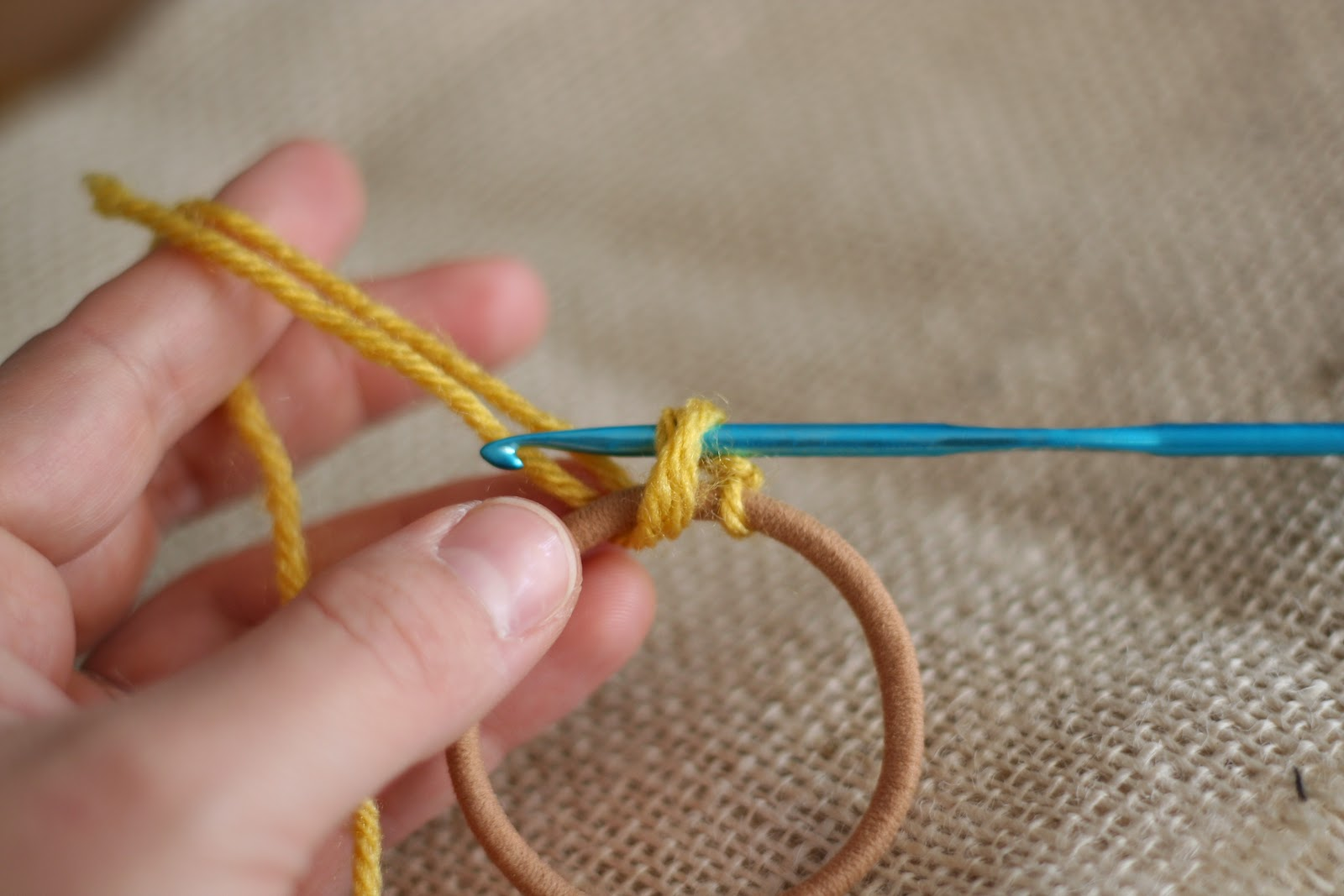 Crochet Hair Ties : the kraft farm: Crochet it up! Hair Ties and Headbands