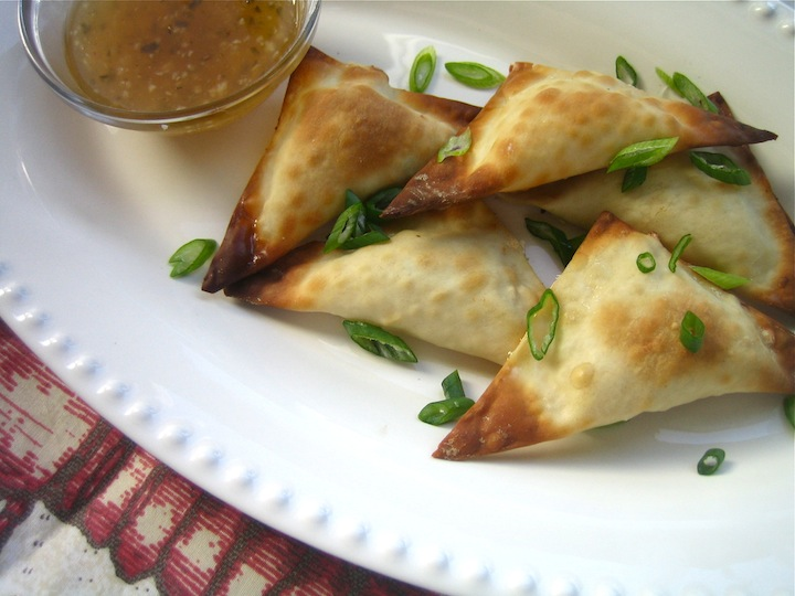 thyme for wine: Baked Crab Rangoon + Sweet Chili Dipping Sauce