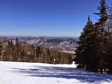 Chuck and Lori's Travel Blog - View from Killington, Vermont
