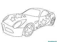 Gambar mobil balap untuk diwarnai
