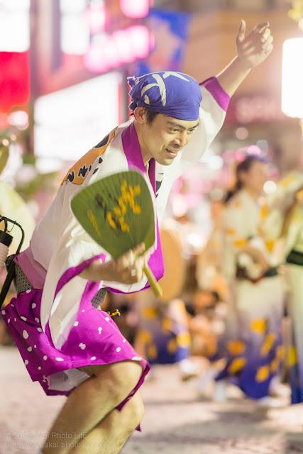 三鷹阿波踊り、八王子千人連の男踊り うちわ
