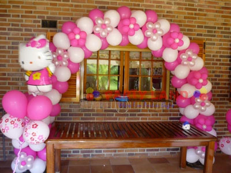 Balon ulang tahun untuk anak tema hello kitty