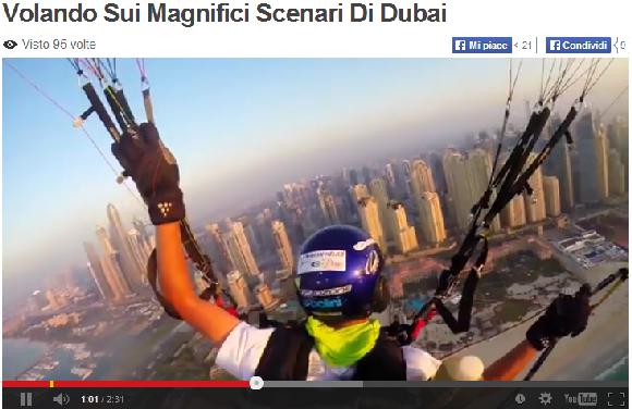 DUBAI IN VOLO DI PARAPENDIO