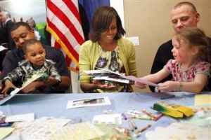 Michelle Obama Visits Fisher House