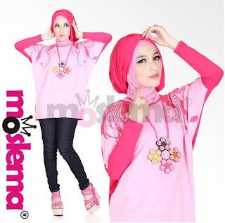 Contoh Model Baju Muslim Kaos Lebaran untuk Remaja