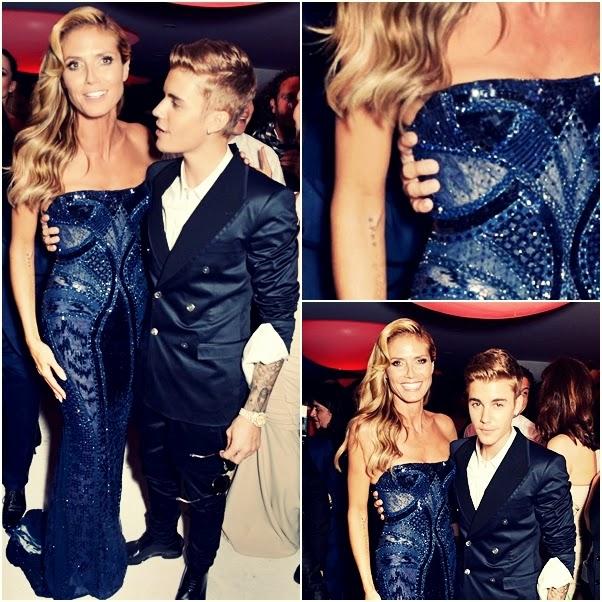Justin Bieber i Heidi Klum w Cannes