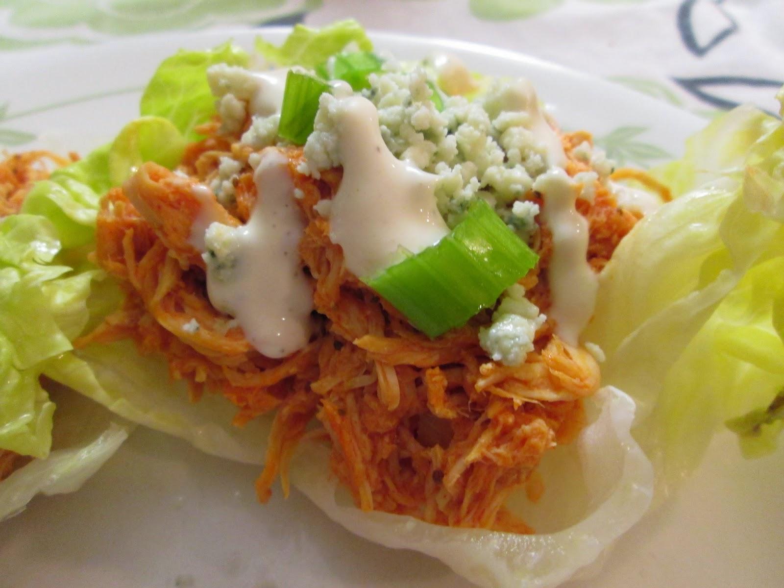 Neighbor Julia: Crockpot Buffalo Chicken Lettuce Wraps