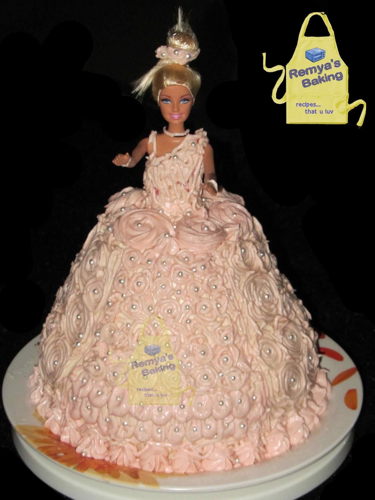 Making Princess Doll Cake