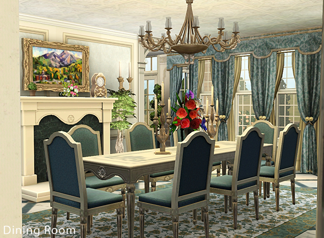 My sims 3 blog chateau de bellevue by petalbot for Sims 3 dining room ideas