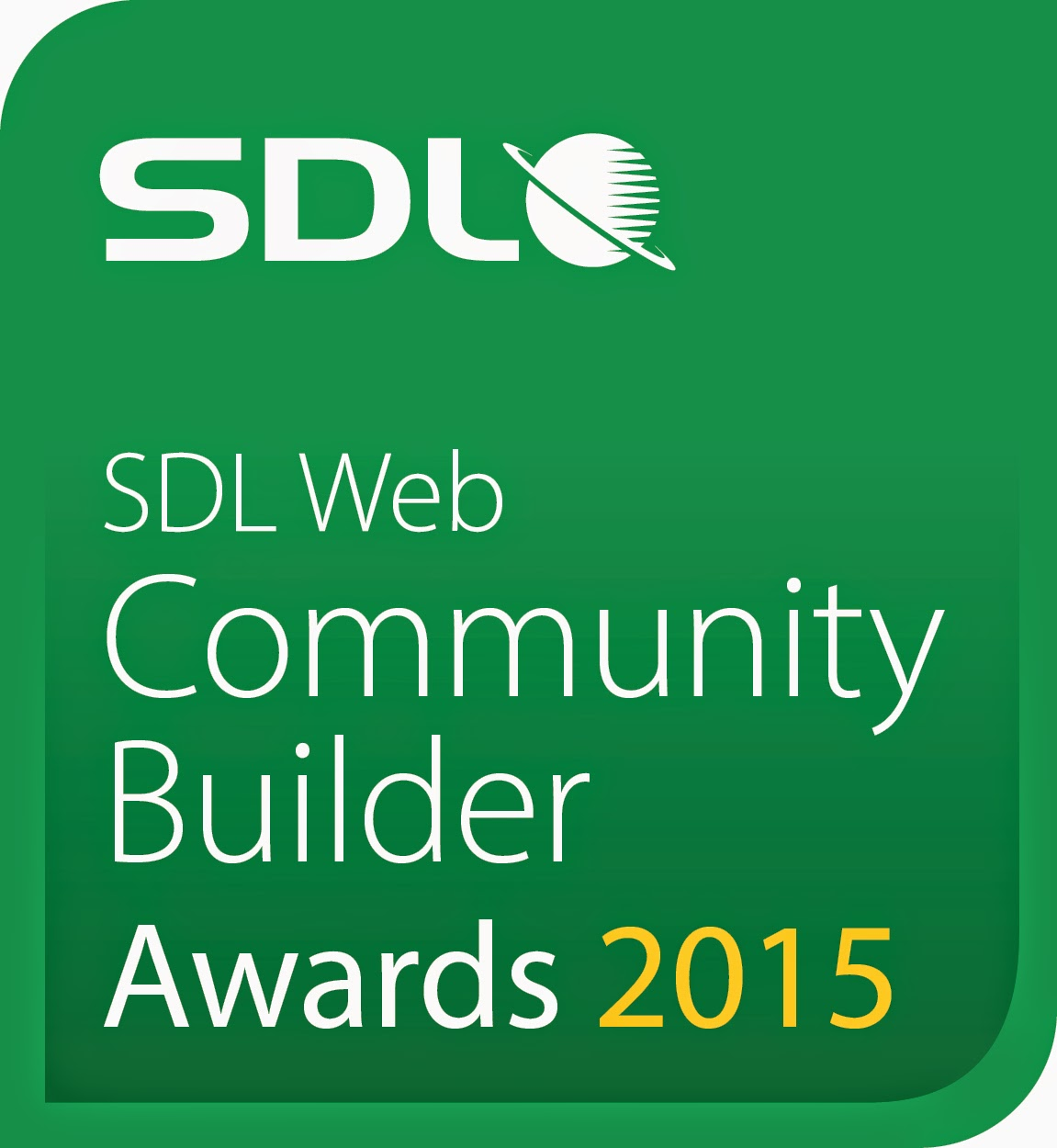 2015 SDL Web Community Builder Award