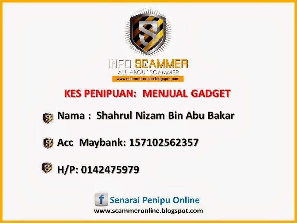 Senarai Penipu Online No Akaun Bank Scammer 157102562357