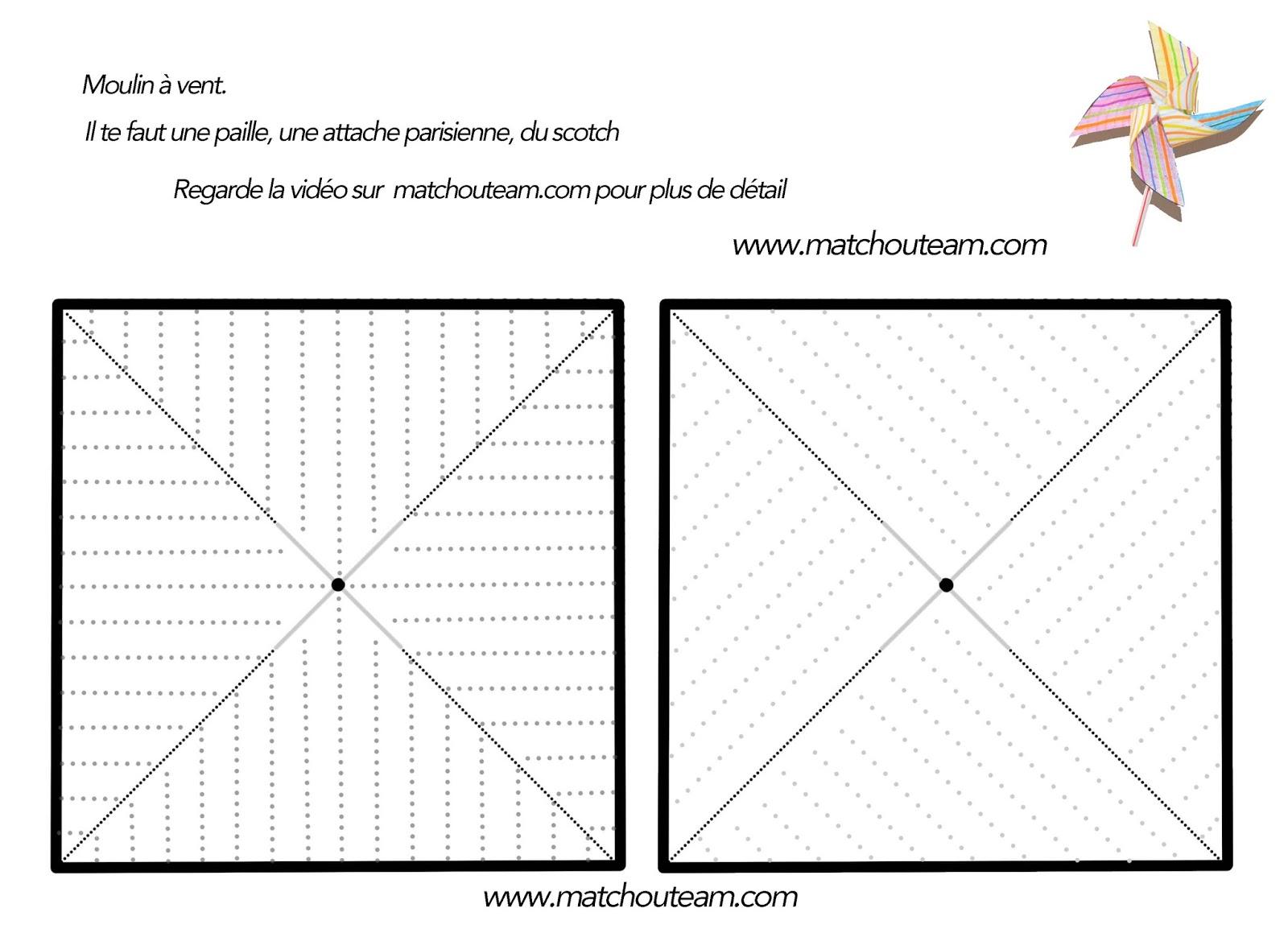Ma tchou team moulin vent sans punaise - Comment fabriquer un moulin a vent en papier ...