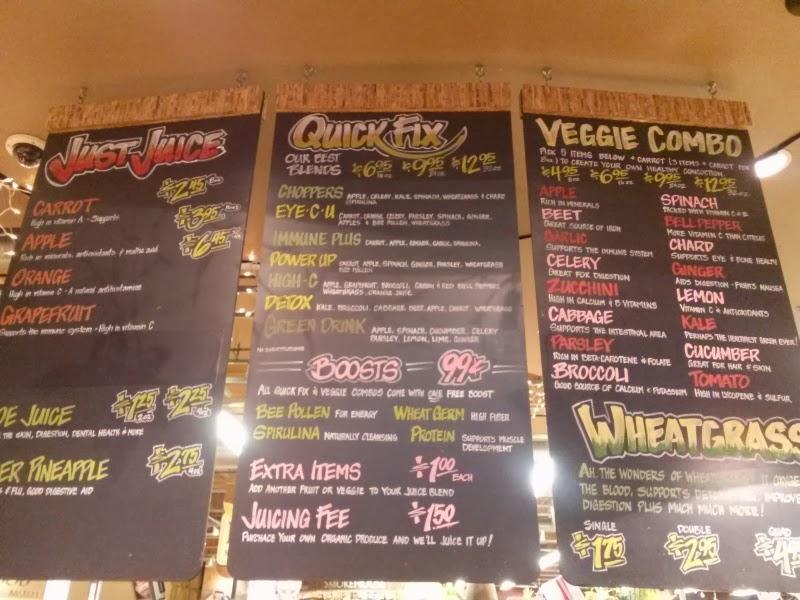 Whole foods fresh juice very dark green juice it has for Whole food juice bar menu