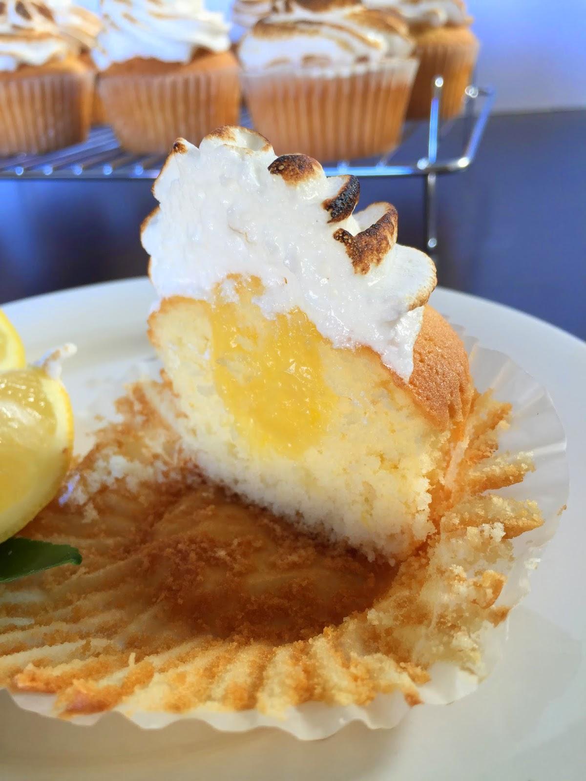 Cassie Cakes Lemon Meringue Cupcakes cupcake insides