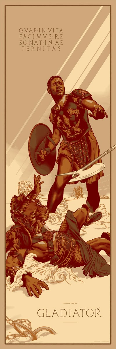 Gladiator Metallic Variant Screen Print by Martin Ansin