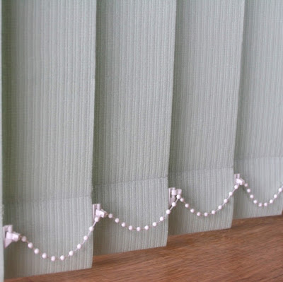 Peppermint green vertical blind replacement slats