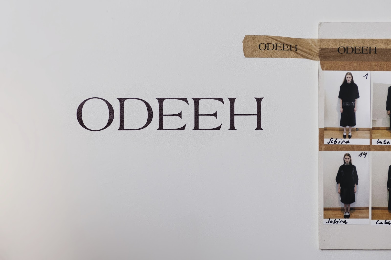 BOARD ODEEH FALL-WINTER 2014 BACKSTAGE PARIS FASHION WEEK READY-TO-WEAR