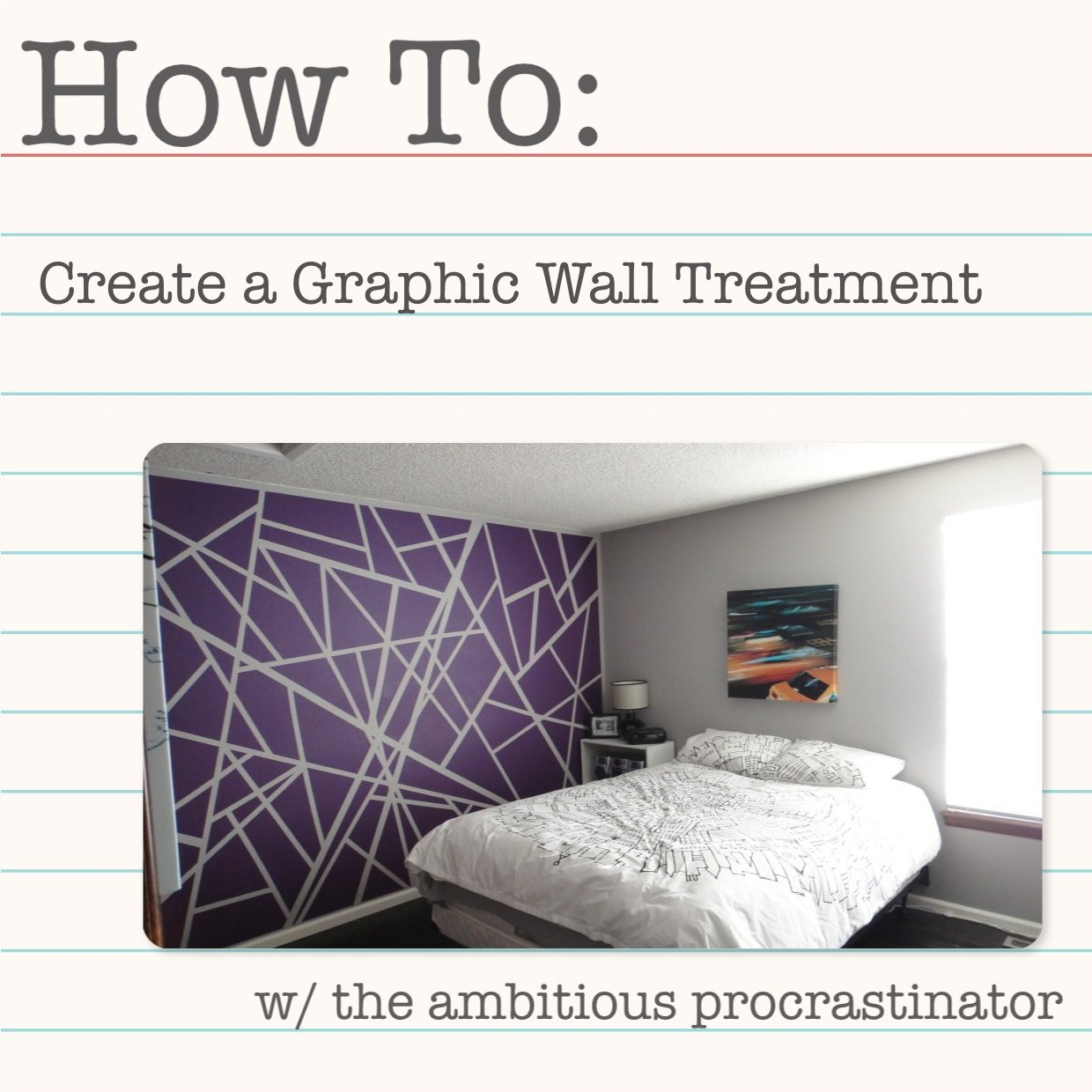 the ambitious procrastinator simple graphic paint technique