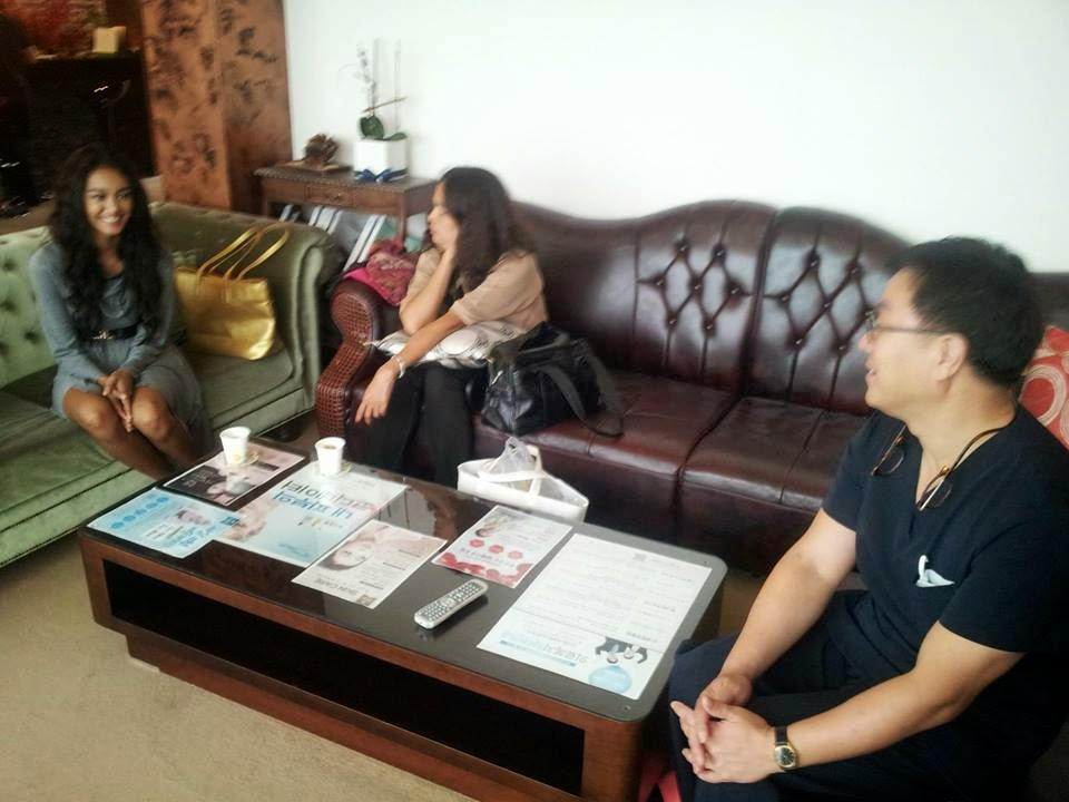 May Myat Noe having breast surgery leak photos from Korea