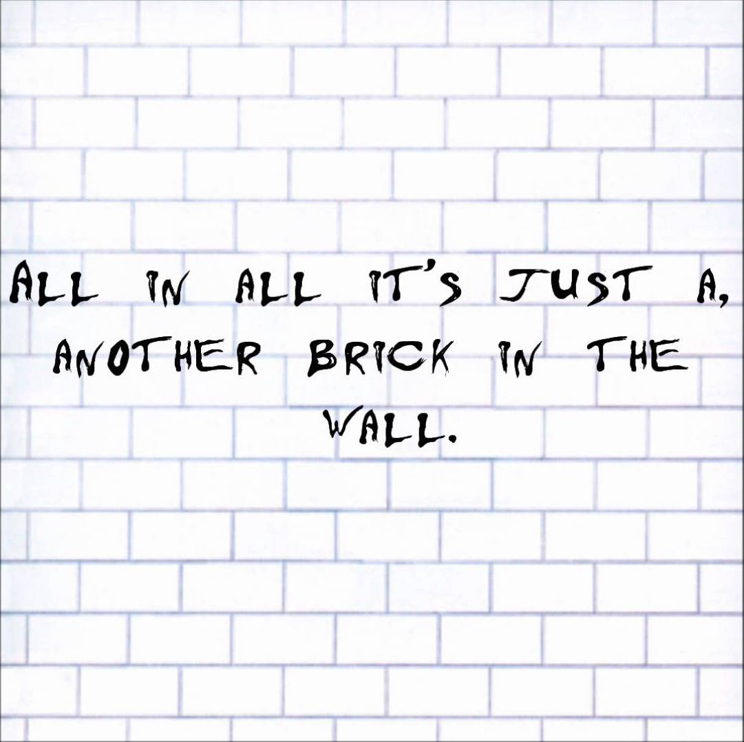 Another brick in the wall pictures Another Brick In The Wall Paperback - m