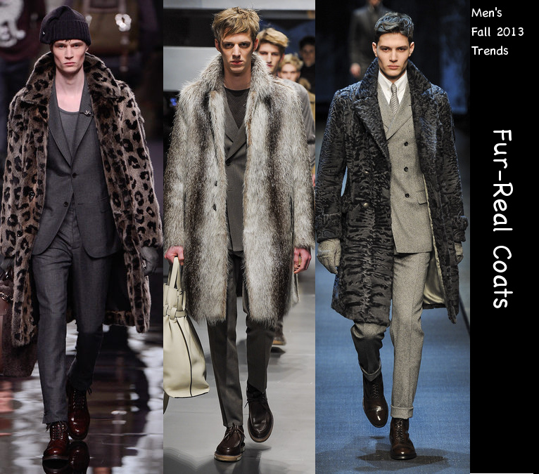 mens fall 2013 fur coat trends