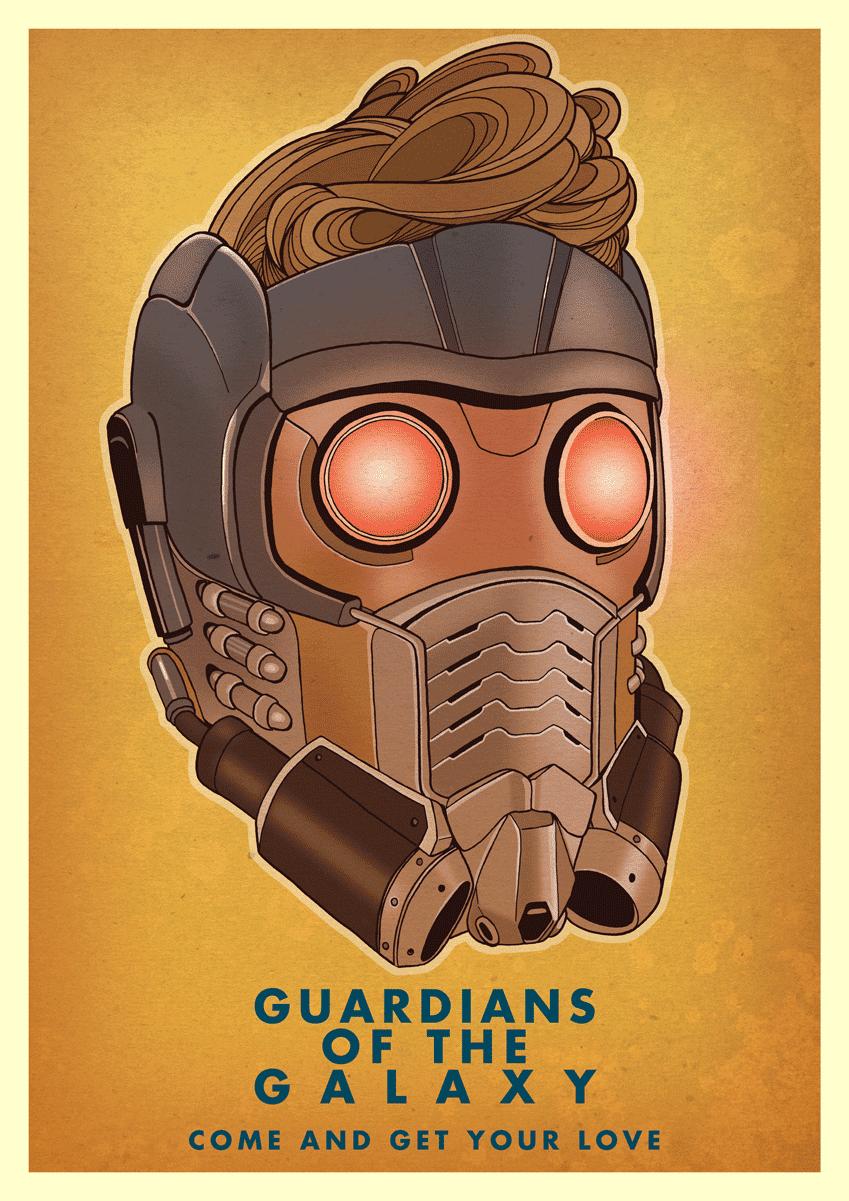 Starlord Helmet Film Poster