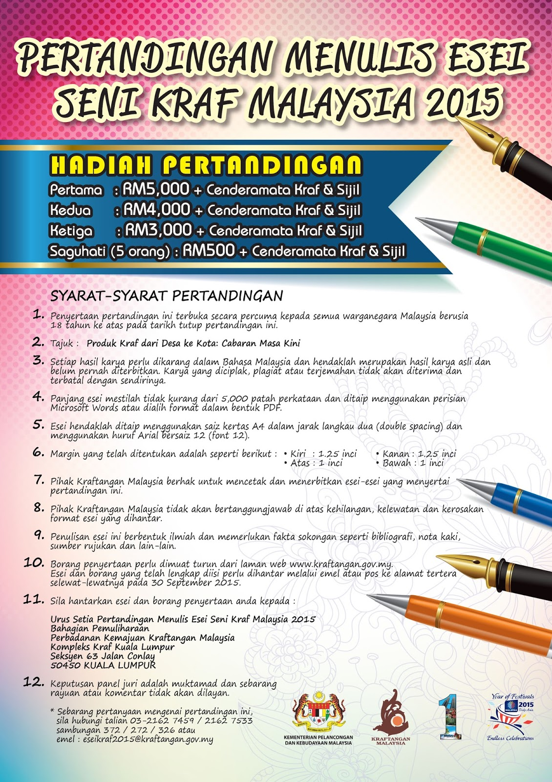 Pertandingan Menulis Essei Seni Kraf Malaysia