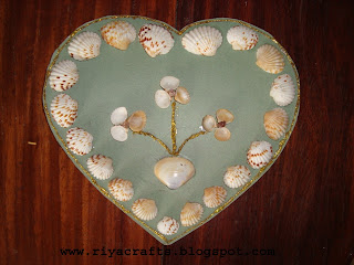 Craft Ideas  Pista Shells on Riya S Crafts      Craft Ur Scrap  Shells    Wall Hangings