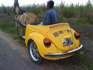 Funny Car cum horse riding